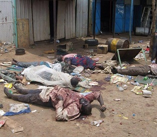 Piles of bodies left after 'Indiscriminate killing' in South Sudan